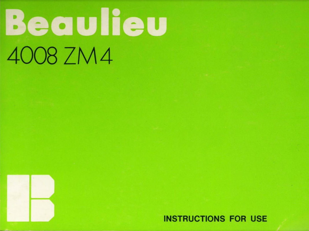 Beaulieu 4008 ZM4 Manual en