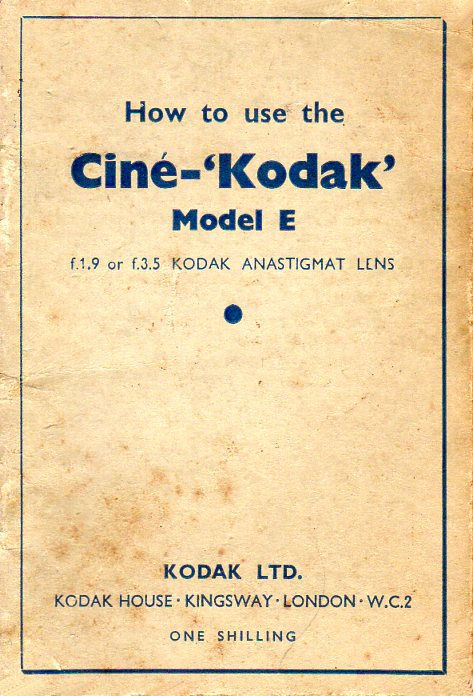 Cine Kodak Model E 35 19 Manual en
