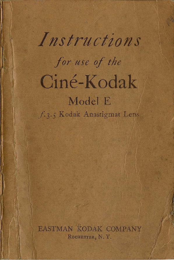 Kodak Model E Manual en