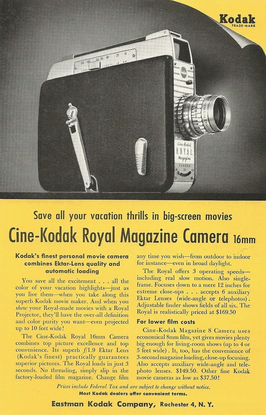 "Ciné Kodak ""Royal"" - Ad 1955"
