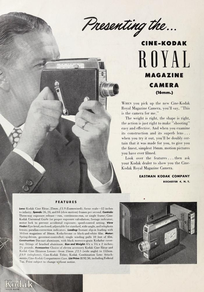 "Ciné Kodak ""Royal"" - Movie Maker Dec 1950"