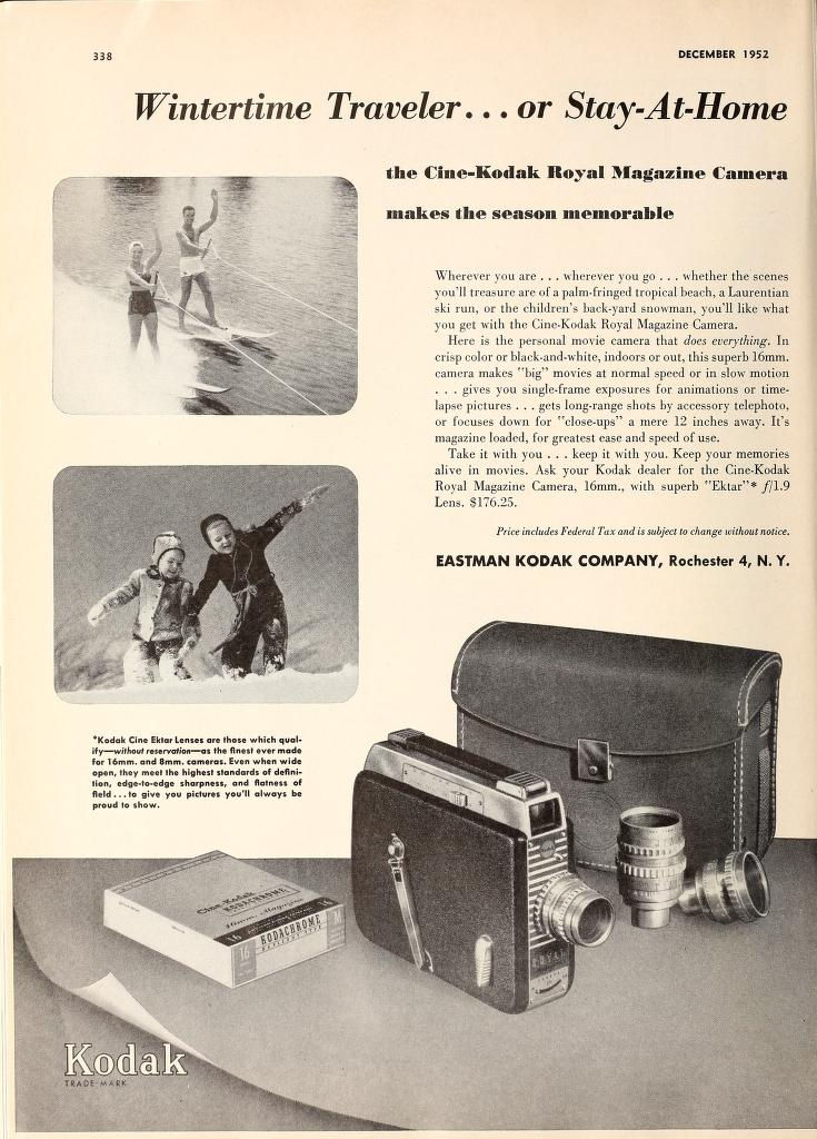 "Ciné Kodak ""Royal"" - Movie Maker Dec 1952"