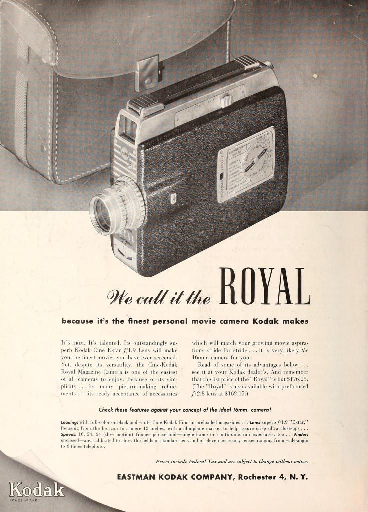 "Ciné Kodak ""Royal"" - Movie Maker Fev 1952"