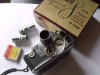 Vintage DeJur D300 8mm Turret Movie Camera with Original Box and 3 Lenses