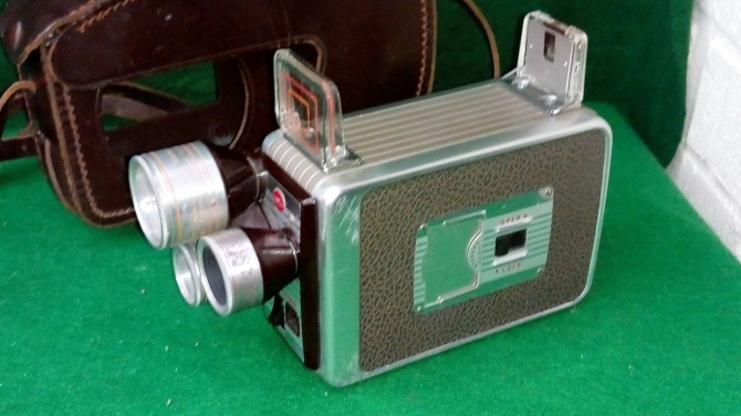 Kodak Brownie Triple Lens Movie Camera with fitted hyde case