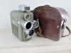 EUMIG ELECTRIC R MOVIE CAMERA WITH CASE AND ATTACHED LIGHT METER