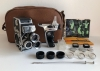 Bolex Paillard 8DL Camera, 3 Kern Paillard Switar Lenses, 8mm, Very Beautiful!