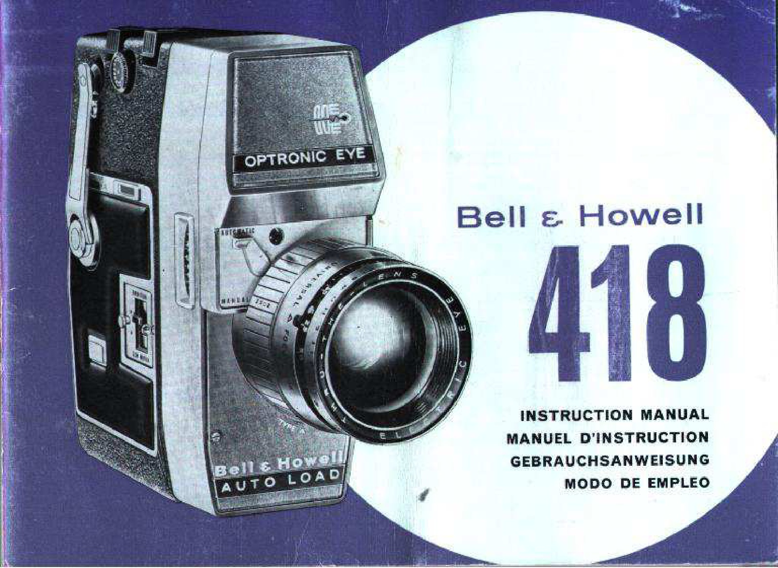 Bell&Howell 418 Cartridge camera