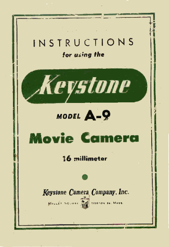 Keystone A-9 - User manual