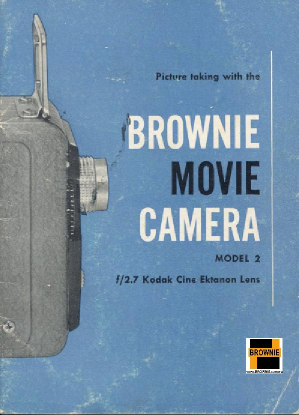 Brownie movie camera model 2 User manual