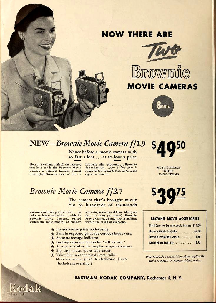 Ciné Kodak Brownie - Movie Makers Oct 1953