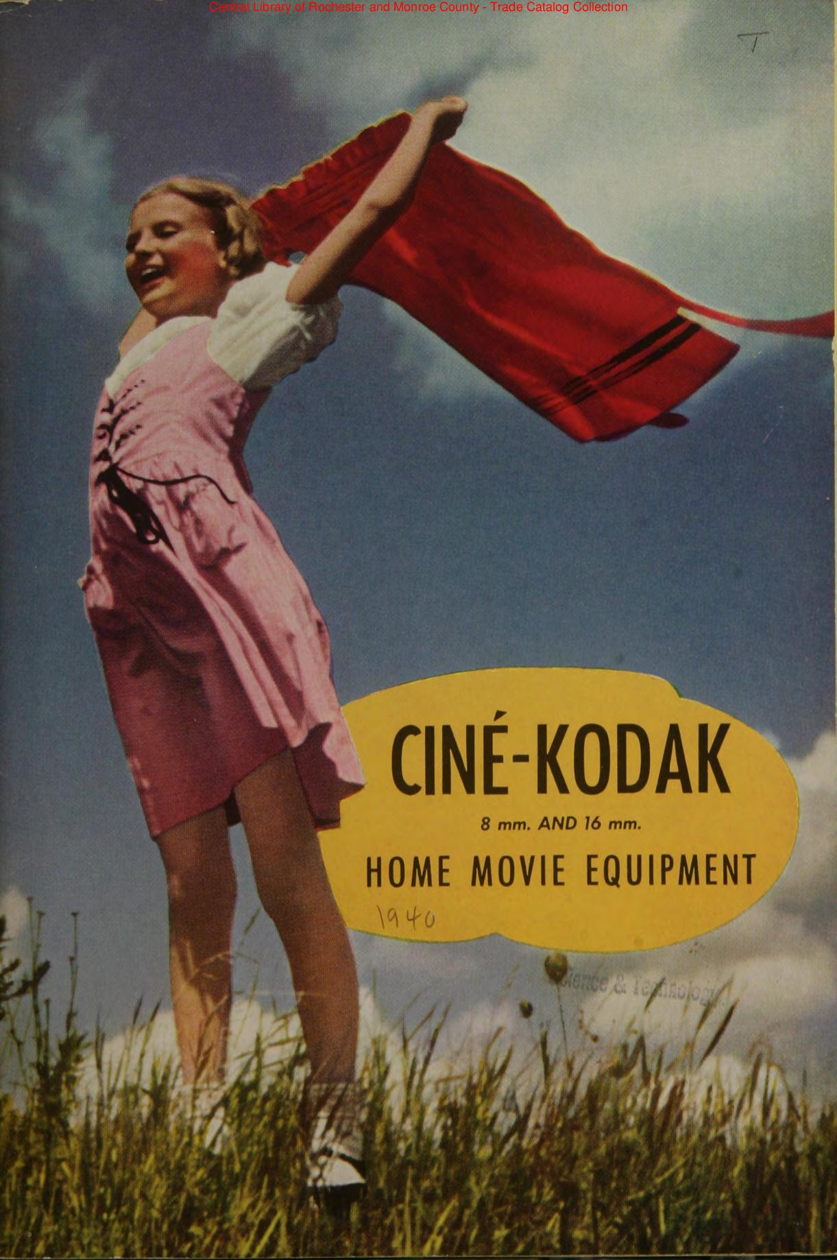 Cine Kodak catalogue 1940 en