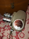 Vintage Bell & Howell 8mm Camera w/ 3 Lens & Original Leather Case (AS IS)