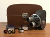 VINTAGE BELL & HOWELL FILMO TURRET 8MM MOVIE CAMERA - WORK