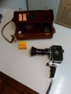 1960's Bolex Palliard Zoom Reflex P2 Cine Camera & Case + 8mm Film