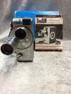 Vintage DeJur Fadematic 8mm Movie Camera Made In Usa With Paperwork