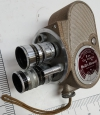 Vintage Bell & Howell model 134 8mm Movie Camera with 3 adjustable Lenses